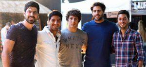 De izquierda a derecha: Joaquín Alterman, Nicolás Medina, Facundo Carmona, Mauro De Girolamo y Martín Acerbi.