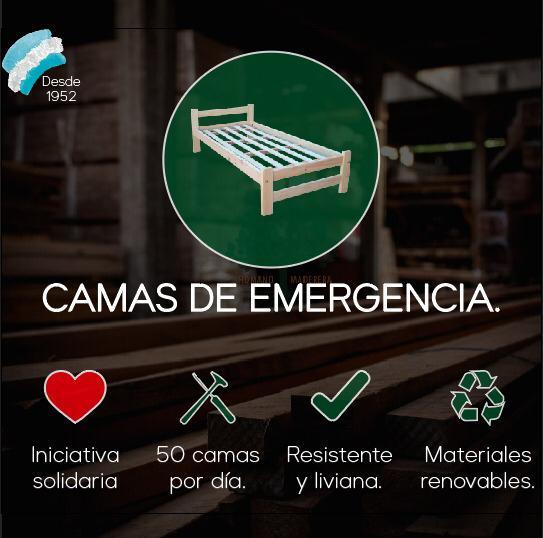 flyer camas de emergencia